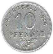 10 Pfennig (Bochum, Gelsenkirchen, Hattingen) [Stadt, Westfalen] – reverse