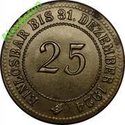 25 Pfennig (Anhalt) [Herzogtum bzw. Freistaat] – reverse