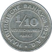 1/10 Verrechnungsmarke (Hamburg) [Private, Hamburgische Bank A.G.] – obverse