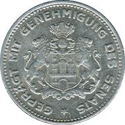 1/10 Verrechnungsmarke (Hamburg) [Private, Hamburgische Bank A.G.] – reverse