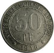 50 Pfennig (Marbach am Neckar) [Amtskörperschaft, Württemberg] – obverse
