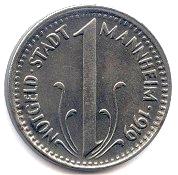 10 Pfennig (Mannheim) [Stadt, Baden] – obverse