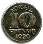 10 Pfennig (Halle) [Stadt, Provinz Sachsen] – reverse