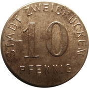 10 Pfennig (Zweibrücken) [Stadt, Pfalz] – obverse