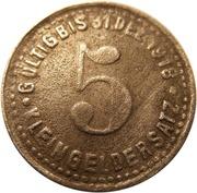 5 Pfennig (Mettmann) [Private, Rheinprovinz, Wagner & Englert GmbH] – reverse