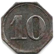 10 Pfennig (Ahrweiler) [Private, Rheinprovinz, N. Mies] – reverse
