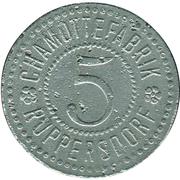 5 Pfennig (Ruppersdorf) [Private, Schlesien, Chamottefabrik] – obverse