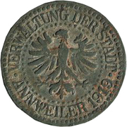 10 Pfennig (Annweiler) [Stadt, Pfalz] – obverse