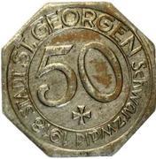 50 Pfennig (St Georgen im Schwarzwald) [Stadt, Baden] – obverse