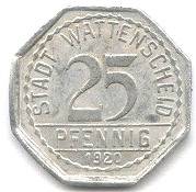 25 Pfennig (Wattenscheid) [Stadt, Westfalen] – obverse