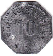 10 Pfennig (Schlierbach) [Private, Hesse-Nassau, Steingutfabrik GmbH] – reverse