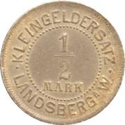 ½ Mark (Landsberg am Warthe) [Stadt, Brandenburg] – reverse