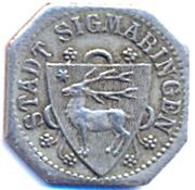 5 Pfennig (Sigmaringen) [Stadt, Hohenzollern] – obverse