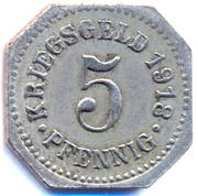 5 Pfennig (Sigmaringen) [Stadt, Hohenzollern] – reverse