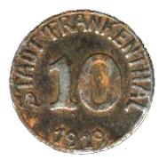 10 Pfennig (Frankenthal) [Stadt, Pfalz] – obverse