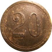 20 Pfennig (Pforzheim) [Private, Baden, Kollmar & Jourdan AG] – reverse