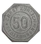 50 Pfennig (Eydtkuhnen) [Private, Ostpreussen, Ernst Kühlich] – obverse