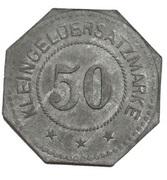 50 Pfennig (Eydtkuhnen) [Private, Ostpreussen, Ernst Kühlich] – reverse