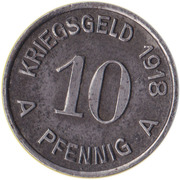 10 Pfennig (Lüdenscheid) [Stadt, Westfalen] – reverse