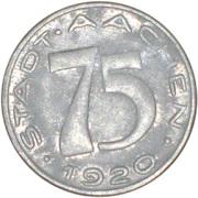 75 Pfennig (Aachen) [Stadt, Rheinprovinz] – obverse