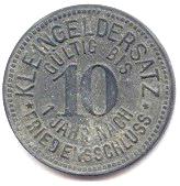 10 Pfennig (Meuselwitz) [Stadt, Sachsen-Altenburg] – reverse