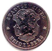 10 Pfennig (Heidelberg) [Stadt, Baden] – obverse
