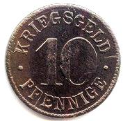 10 Pfennig (Heidelberg) [Stadt, Baden] – reverse
