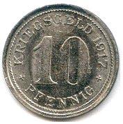 10 Pfennig (Wattenscheid) [Stadt, Westfalen] – reverse