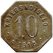 10 Pfennig (Crailsheim) [Stadt, Württemberg] – reverse