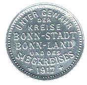 10 Pfennig (Bonn-Siegkreis) [Stadt-, Land- und Siegkreis, Rheinprovinz] – obverse