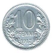 10 Pfennig (Bonn-Siegkreis) [Stadt-, Land- und Siegkreis, Rheinprovinz] – reverse
