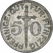 50 Pfennig (Solingen) [Stadt, Rheinprovinz] – reverse