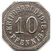 10 Pfennig (Sigmaringen) [Stadt, Hohenzollern] – reverse