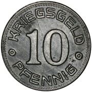 10 Pfennig (Weißenfels) [Landkreis, Provinz Sachsen] – reverse