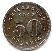 50 Pfennig (Bottrop) [Gemeinde, Westfalen] – reverse