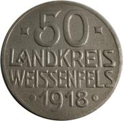 50 Pfennig (Weißenfels) [Landkreis, Sachsen] – reverse