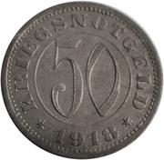 50 Pfennig (Reutlingen) [Kreishauptstadt, Württemberg] – reverse