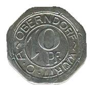 10 Pfennig (Oberndorf) [Oberamt, Württemberg] – obverse