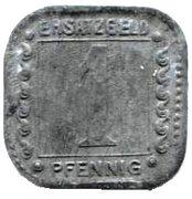 1 Pfennig (Ludwigshafen am Rhein) [Private, BASF] – reverse
