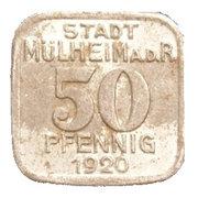 50 Pfennig (Mülheim an der Ruhr) [Stadt, Rheinprovinz] – obverse