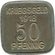 50 Pfennig (Sprottau) [Stadt, Schlesien] – reverse
