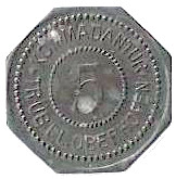 5 Pfennig (Oberhofen) [Kommandantur Tr Üb Pl, Elsaß-Lothringen] – obverse