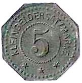 5 Pfennig (Oberhofen) [Kommandantur Tr Üb Pl, Elsaß-Lothringen] – reverse