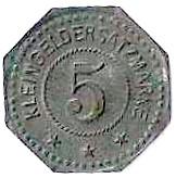 5 Pfennig - Oberhofen (Kommandantur)  – reverse