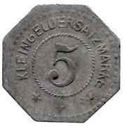 5 Pfennig (Busendorf) [Private, Lothringen, Lothringer Walzengiesserei] – reverse