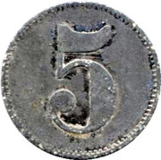 5 Pfennig (Schiltigheim) [Private, Elsass, Conservenfabrik] – reverse