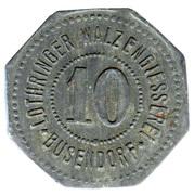10 Pfennig (Busendorf) [Private, Lothringen, Lothringer Walzengiesserei] – obverse