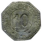 10 Pfennig (Busendorf) [Private, Lothringen, Lothringer Walzengiesserei] – reverse