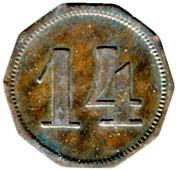 14 Pfennig (Schiltigheim) [Private, Elsass, Conservenfabrik] – reverse