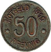 50 Pfennig (Bingen am Rhein) [Stadt, Hessen] – reverse